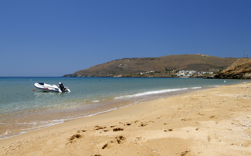 Andros island: Golden Beach