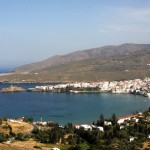 Andros island: View to Chora