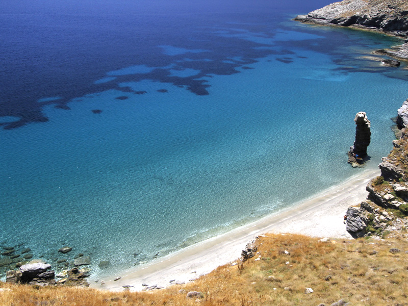 Best Beaches in Andros: Grias to Pidima beach