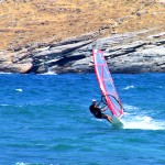 Active Holidays in Andros: Ormos windsurfing