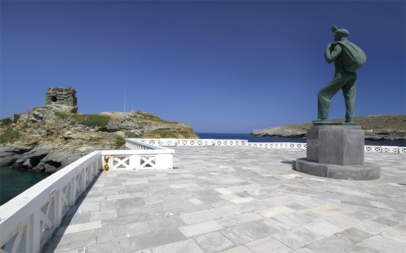 Walk around Chora: Statue of the Unknown Sailor