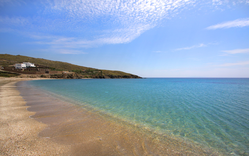 Secluded Beaches in Andros: Piso Limnionas