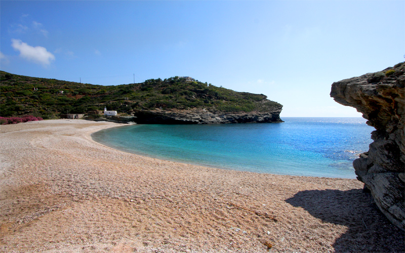 Secluded Beaches in Andros: Vitali